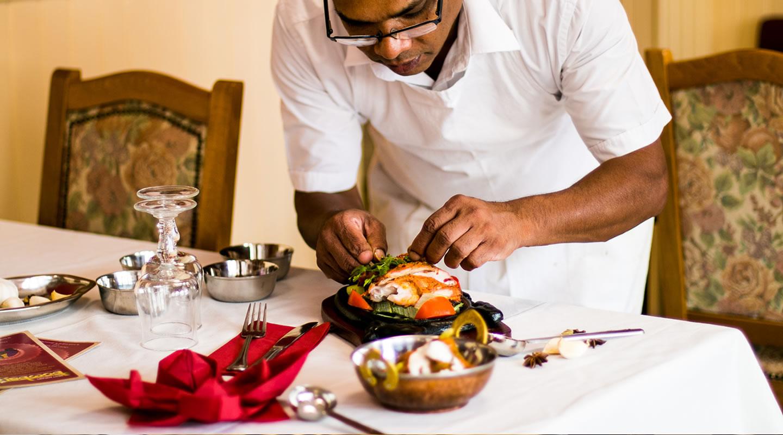 Restaurant Le Bombay Les plats Menu